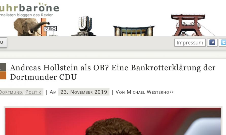 Deutliche Worte bei Ruhrbarone.de